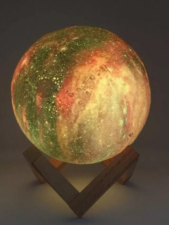 3d night light moon light with 16 color changeable touch and remote control